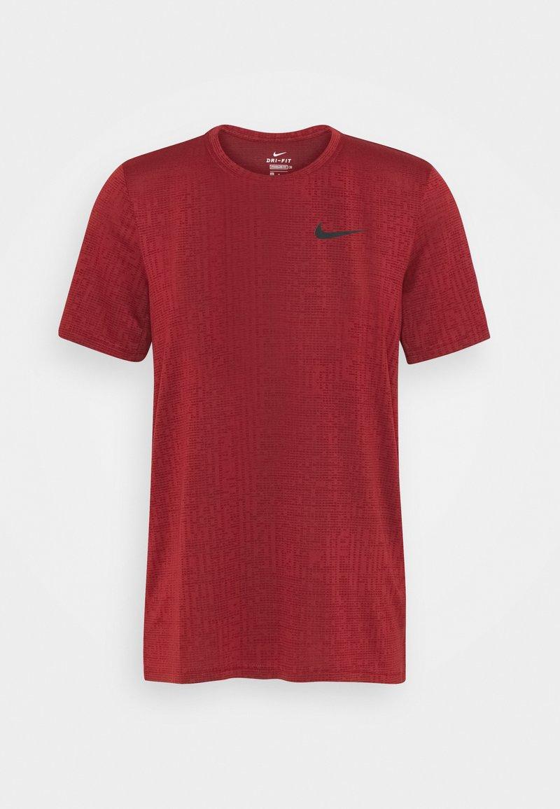 Nike Performance - T-shirts basic - dark cayenne/black