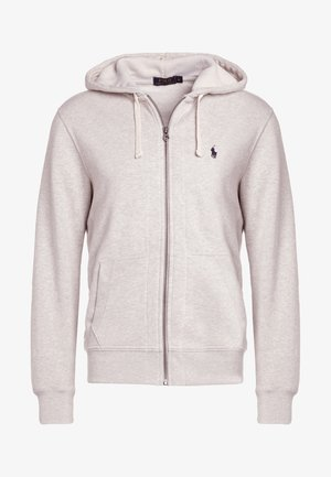 HOOD - Huvtröja med dragkedja - light grey