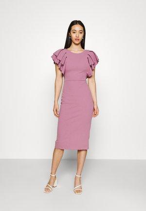 KENSLEY RUFFLE SLEEVE DRESS - Trikoomekko - mauve pink