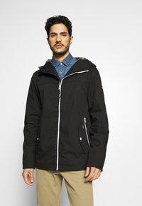 Solid - JACKET HUNT - Summer jacket - black - 0