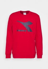 Diadora - CREW LOGO CHROMIA - Sweatshirt - tango red - 4