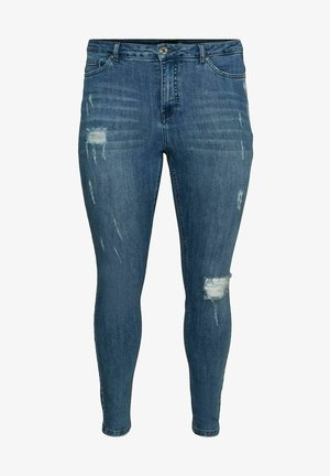 MASS BALANCE - Jeans Skinny Fit - medium blue denim
