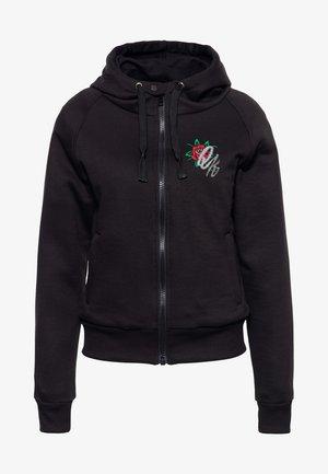 QUEEN OF THE ROAD - Zip-up sweatshirt - schwarz