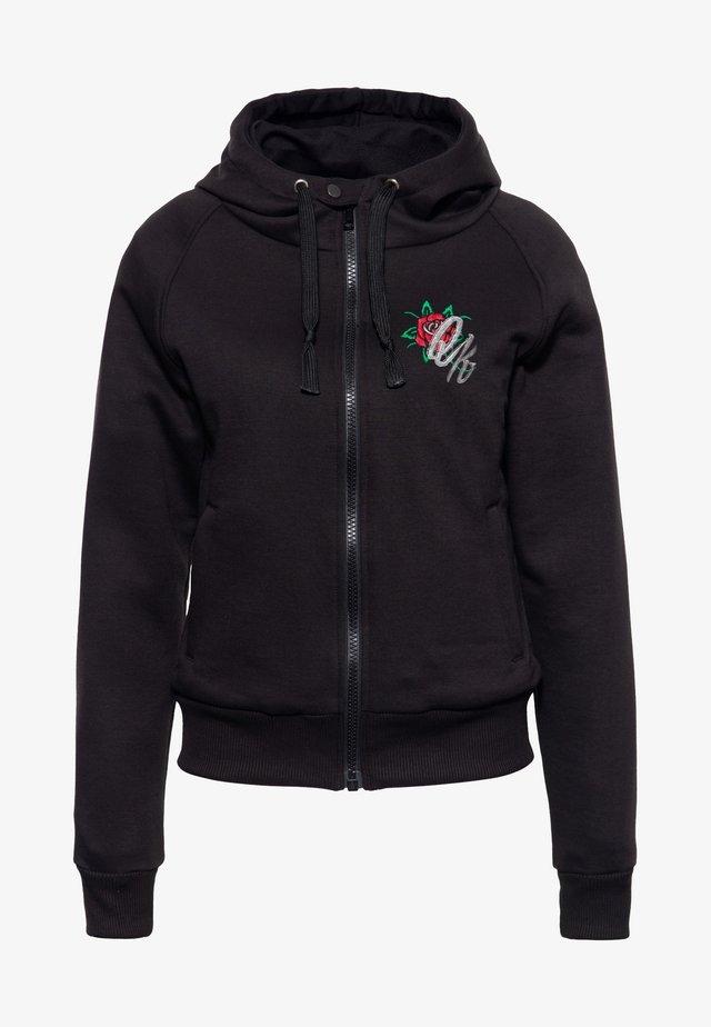 QUEEN OF THE ROAD - Zip-up hoodie - schwarz