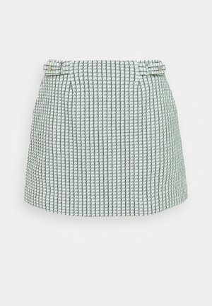 TWEED SKIRT - Mini skirt - green multi