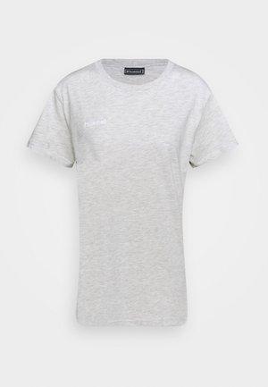 GO WOMAN - T-shirt z nadrukiem - egret melange