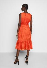 Wallis - BRODERIE TIERED MIDI DRESS - Day dress - red - 3