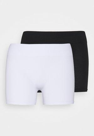 PCLONDON MINI SHORTS 2 PACK - Shapewear - black/bright white