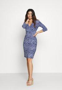 Lauren Ralph Lauren Petite - CLEORA - Shift dress - black/blue/multi - 0