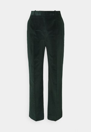 CROPPED DRAINPIPE TROUSER - Spodnie materiałowe - deep teal green
