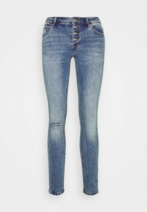 VMLYDIA SKINNY BUTTON  - Skinny džíny - medium blue denim