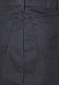 G-Star - NOXER NAVY PENCIL BUTTON SKIRT - Pencil skirt - waxed black cobler - 2
