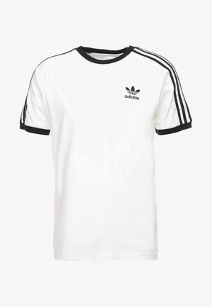3 STRIPES TEE UNISEX - T-shirt z nadrukiem - white