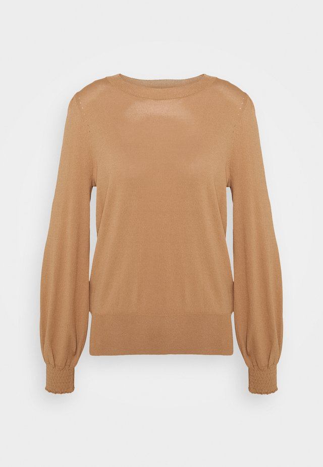 PUFF SLEEVE JUMPER - Neule - camel