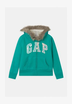 GIRL LOGO COZY  - Mikina na zip - egyptian turquoise