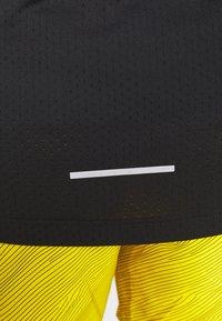 Nike Performance - DRY MILER TANK TECH - Sports shirt - black/lemon - 5