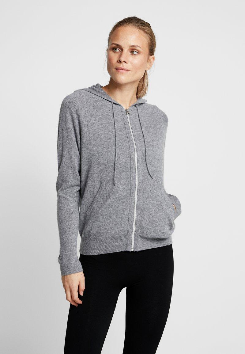 Filippa K - SOFT SPORT HOODIE - Sportovní bunda - grey melange