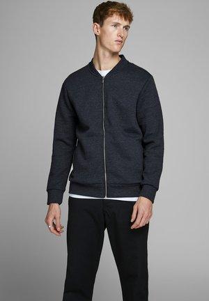 JPRSTEVIE SWEAT ZIP CARDIGAN - Zip-up hoodie - dark navy