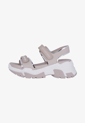 Sandalen met plateauzool - pink
