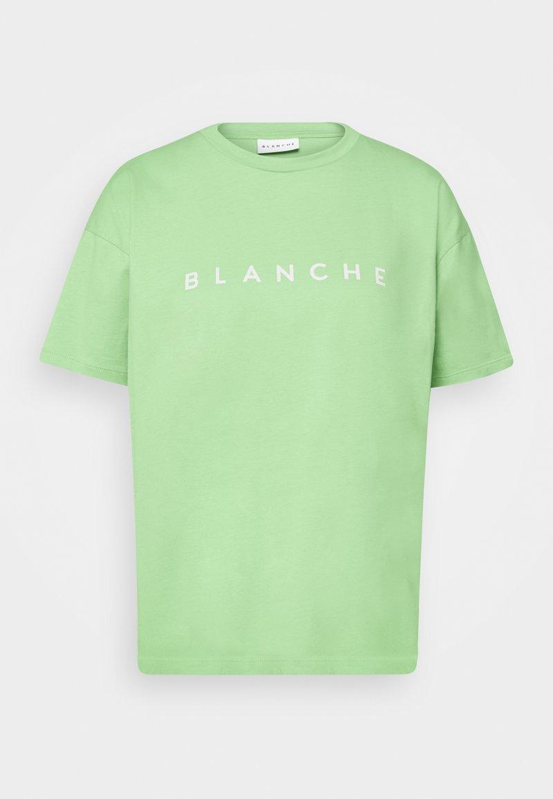 BLANCHE - MAIN CONTRAST - T-shirt imprimé - jade lime