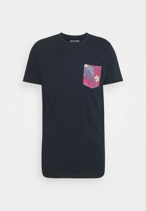 JORPAAN TEE CREW NECK - Print T-shirt - navy blazer