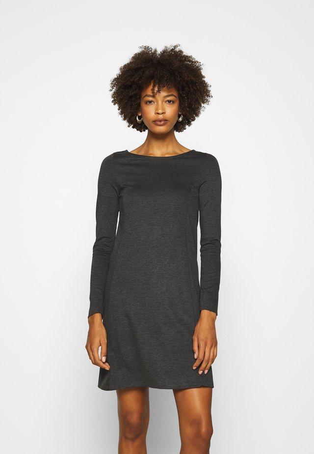 Žerzejové šaty - dark grey melange
