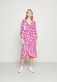 ONLY - ONLPIO LONG WRAP DRESS  - Kjole - pale green/fuchsia purple - 1