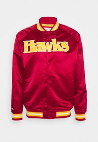 Mitchell & Ness - NBA ATLANTA HAWKS LIGHTWEIGHT JACKET - Squadra - red - 0