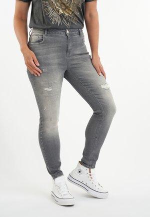 MET DESTROYED DETAIL - Jeans Skinny Fit - grey
