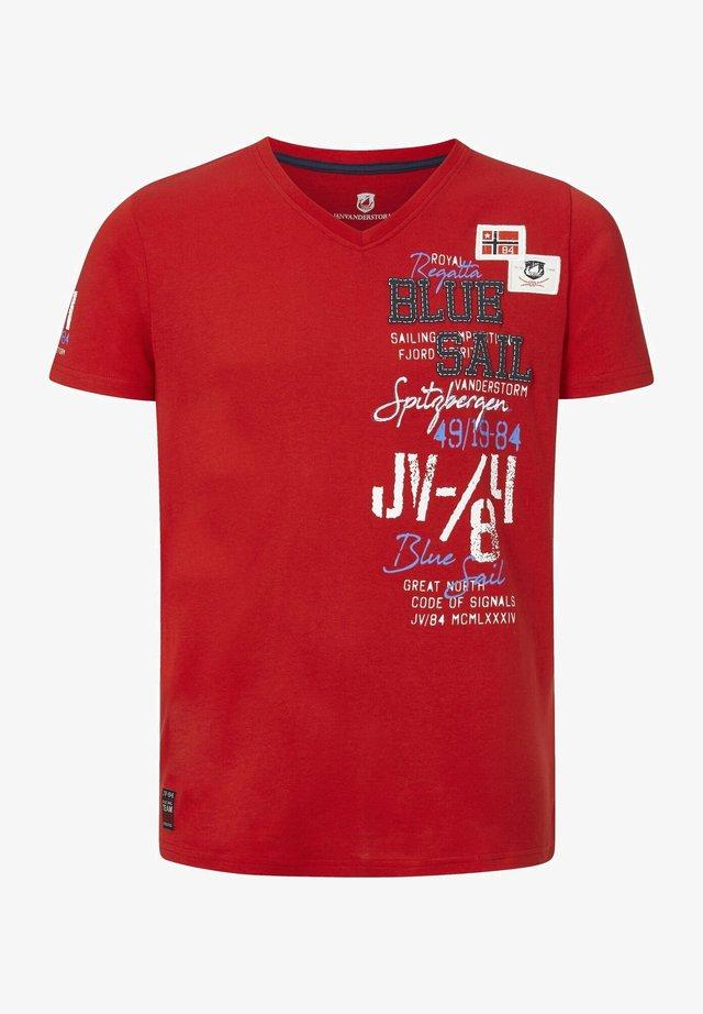 KOLBJORN - T-shirt imprimé - rot