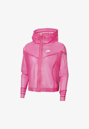 TRANSPARENT - Bomber Jacket - pink glow/white/white