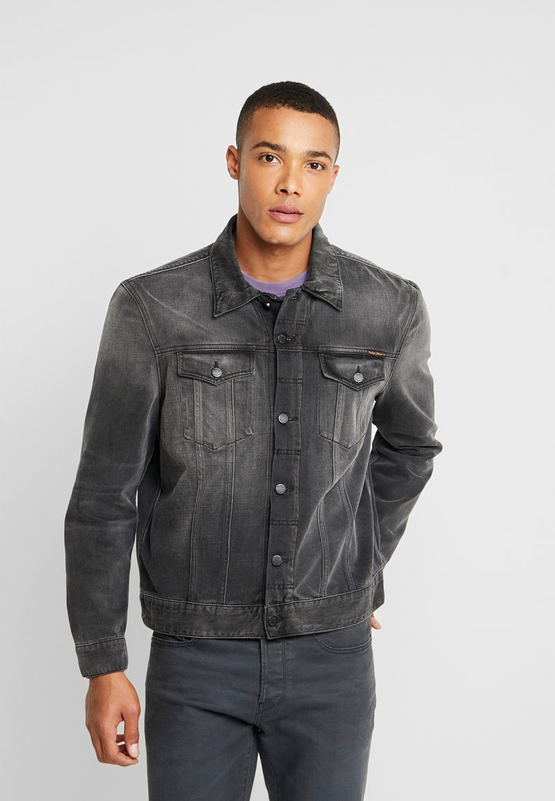 Nudie Jeans - JERRY - Denim jacket - black midnight