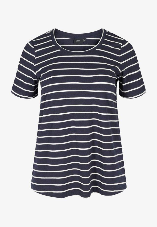 Print T-shirt - night sky w. egret