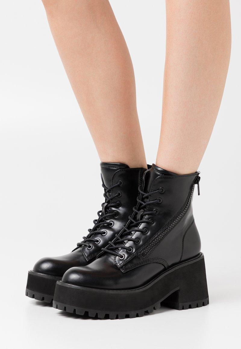 Coolway - YELINA - Platform ankle boots - black