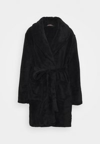 Anna Field - LADIES PLUSH BATHROBE  - Badjas - black - 3