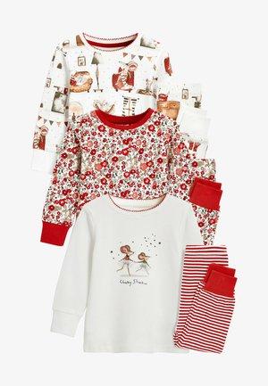 3 PACK  - Pyžamo - red