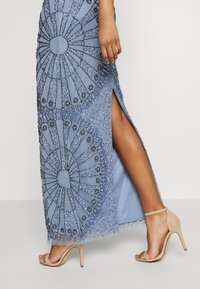 Lace & Beads - NAFISA - Occasion wear - dusty blue - 3