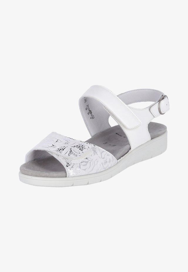 DUNJA - Sandals - weiß
