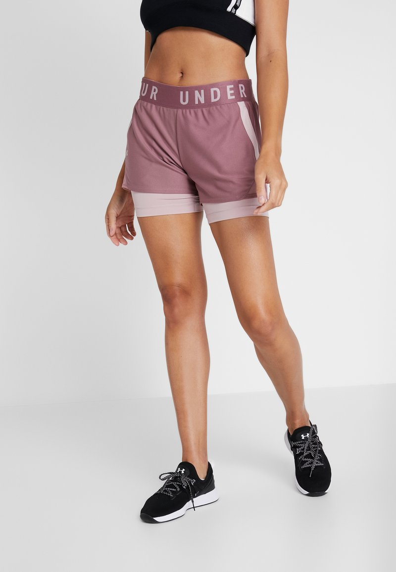 Under Armour - PLAY UP SHORTS - Pantalón corto de deporte - hushed pink/dash pink