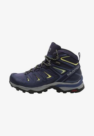 X ULTRA 3 MID GTX  - Trekingové boty - crown blue/evening blue/sunny lime