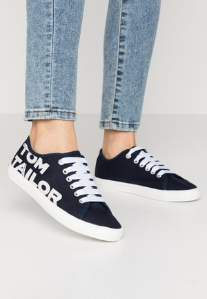 Trainers - navy/white
