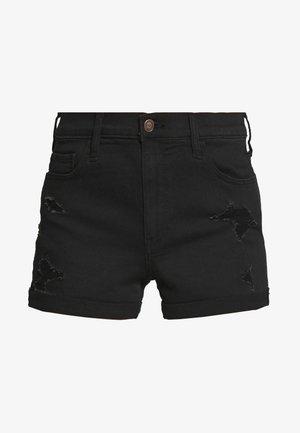 BLACK DEST ROLL  - Jeansshorts - black
