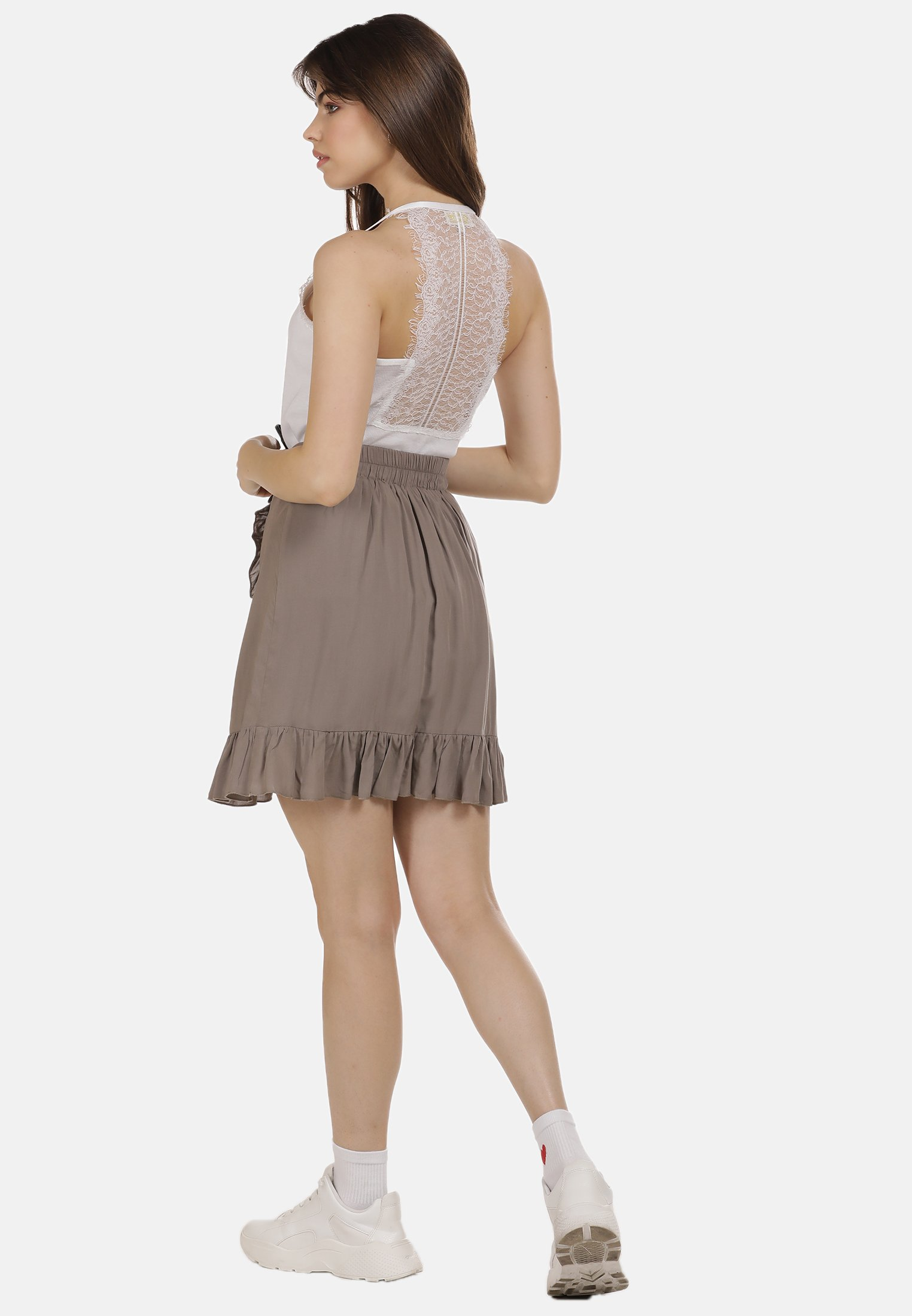 New Lower Prices Women's Clothing myMo MINIROCK A-line skirt taupe K4iZdPOZp