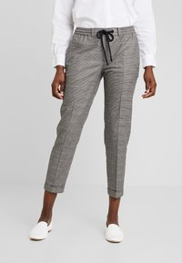Marc O'Polo DENIM - PANTS CHECK - Trousers - light grey - 0