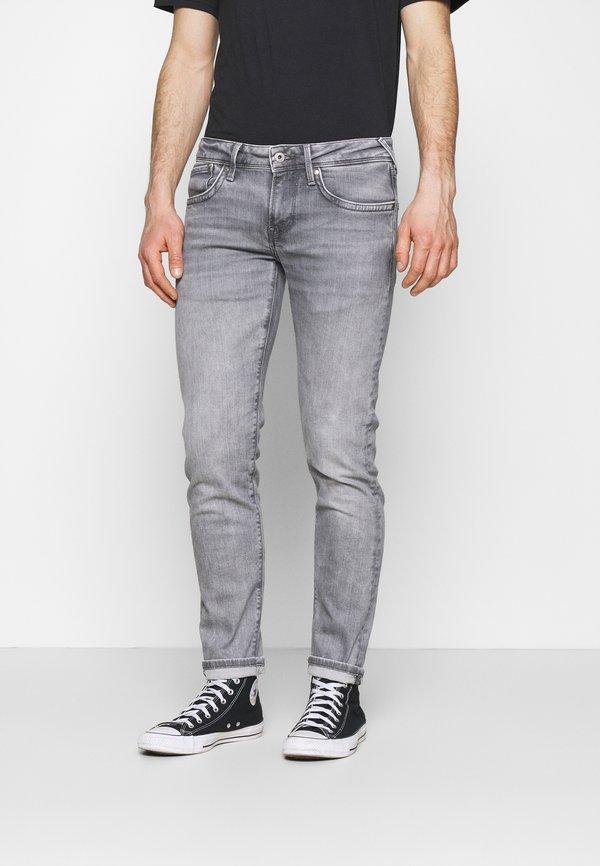 Pepe Jeans HATCH - Jeansy Slim Fit - grey denim/szary denim Odzież Męska LTBW
