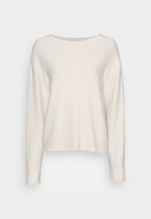 LONGSLEEVE MODERN WIDE FIT RICE CORN STRUCTURE - Pullover - chalky sand