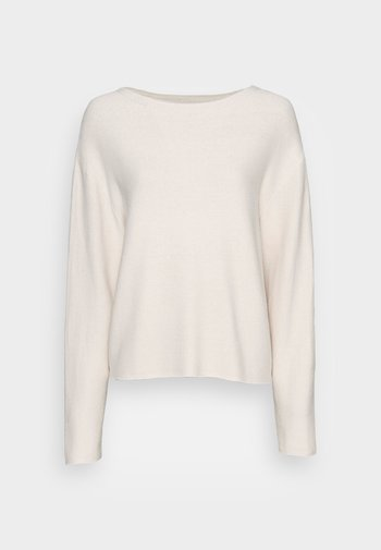 LONGSLEEVE MODERN WIDE FIT RICE CORN STRUCTURE - Jumper - chalky sand