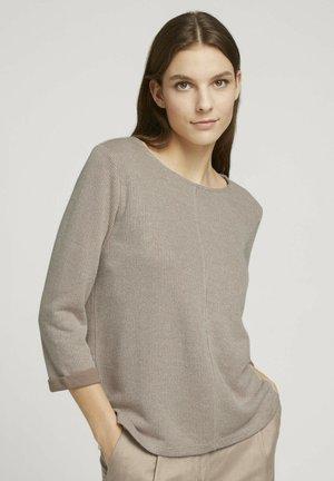 MELIERTES - Pullover - french clay beige melange