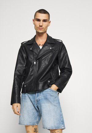 RAUL JACKET - Faux leather jacket - black