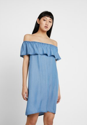 VMMIA FLOUNCE SUMMER DRESS - Denim dress - light blue denim
